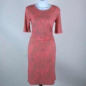 APT. 9 coral and gray stretch dress size medium.